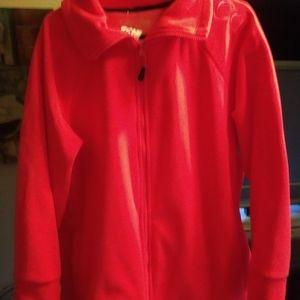 calvin Klein performance orange fleece jacket